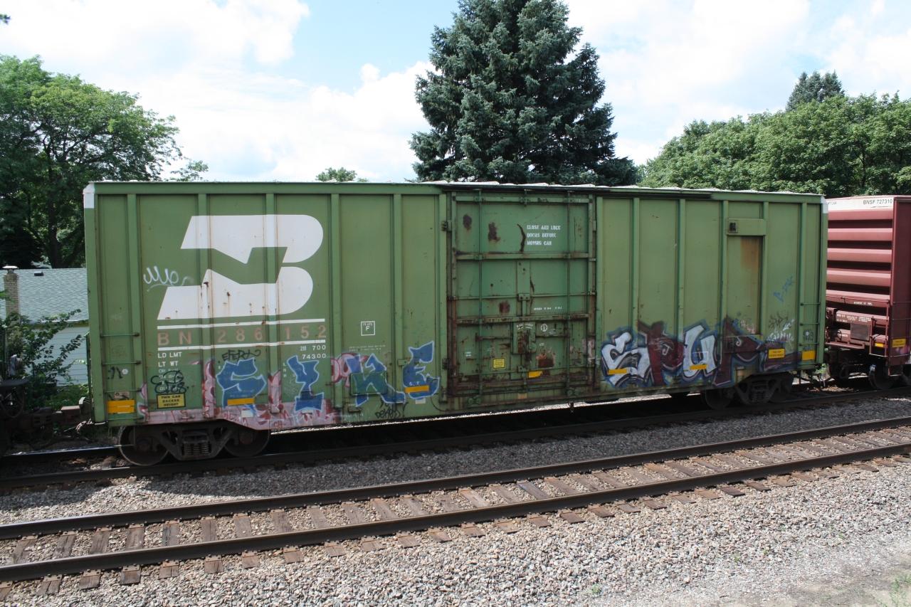 Burlington Northern 50' Boxcar, Rochelle Illinois, July 8